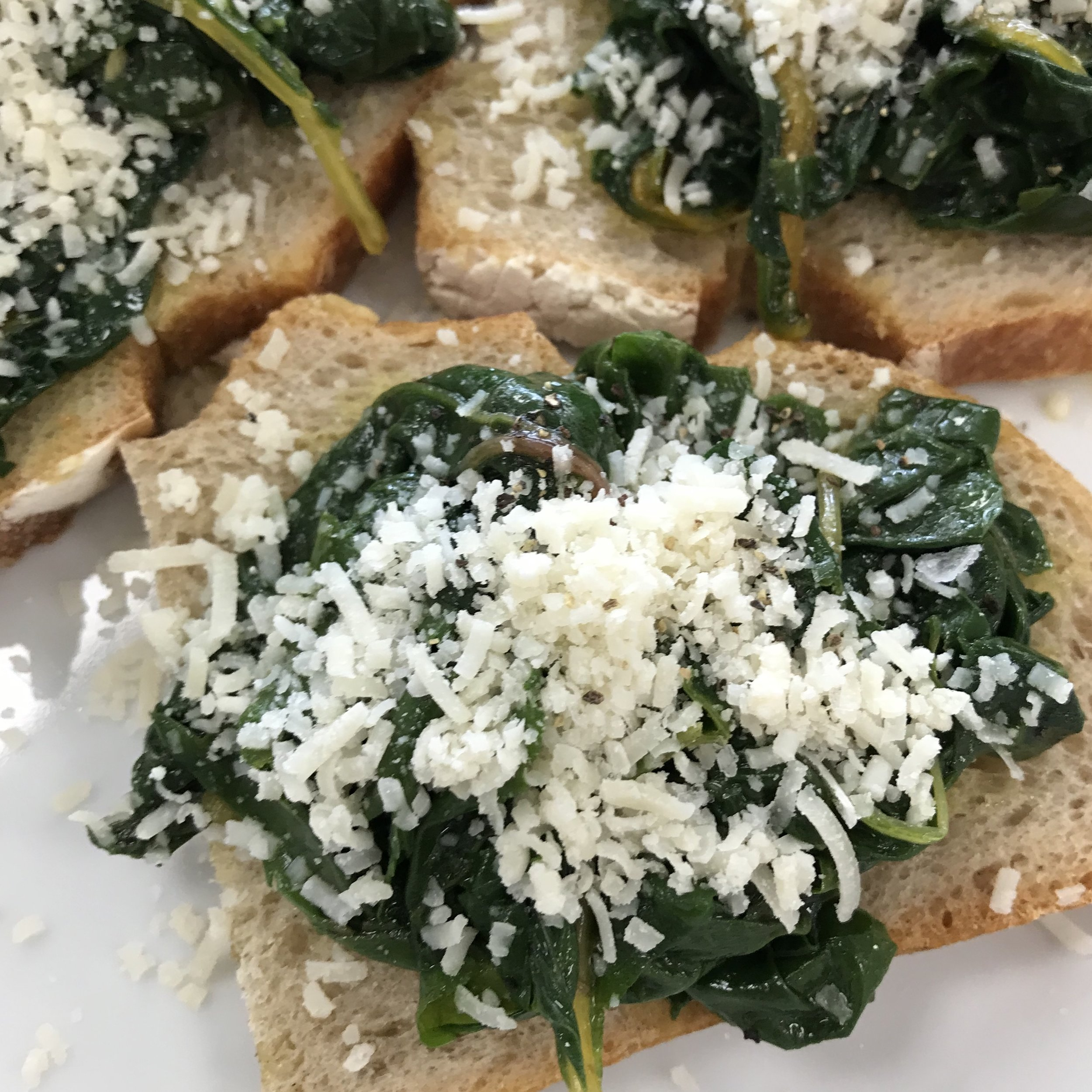 Bruschettas with Sautéed Chard . Make It Ahead . Week 39