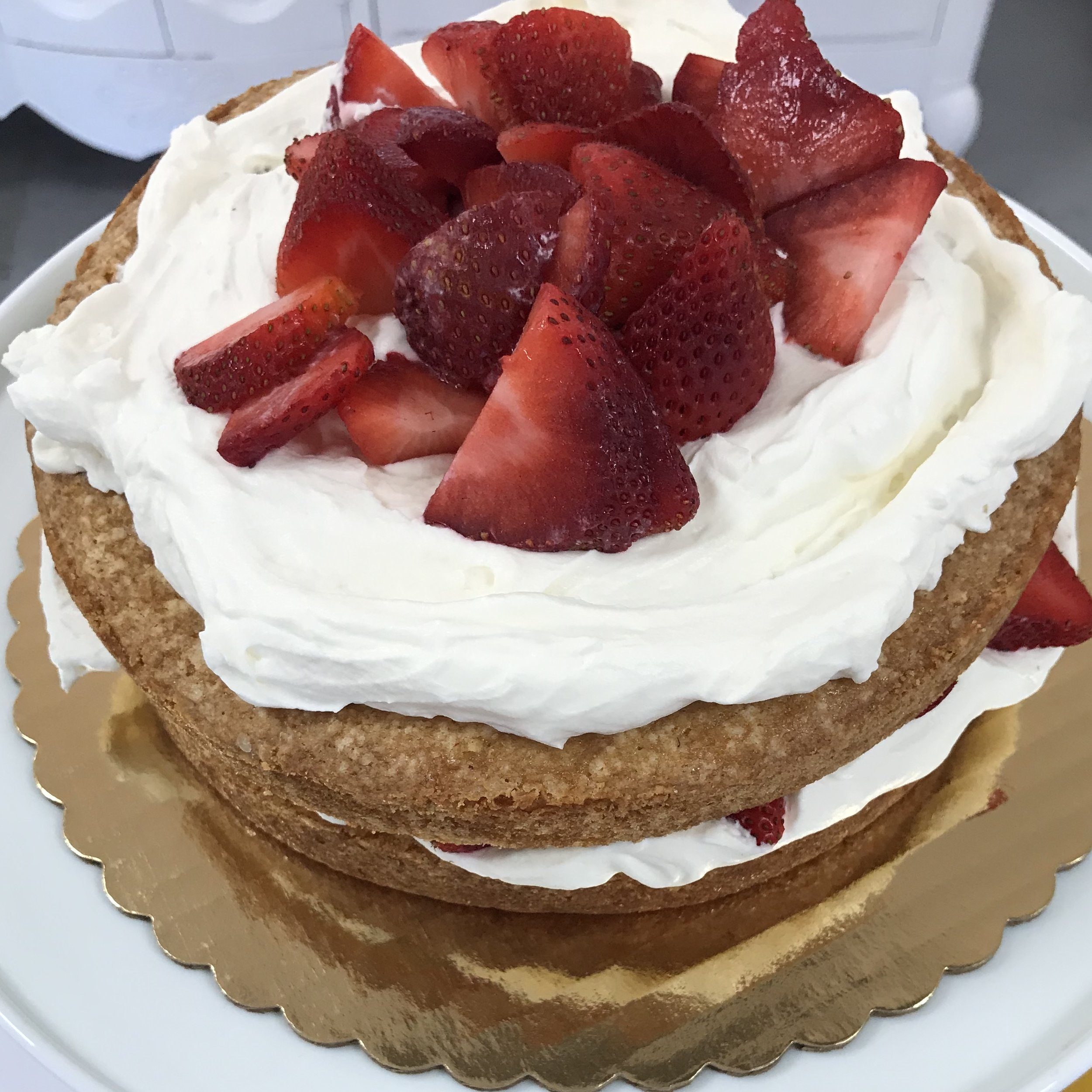 Strawberry Country Cake . Barefoot Contessa Parties! . Week 40