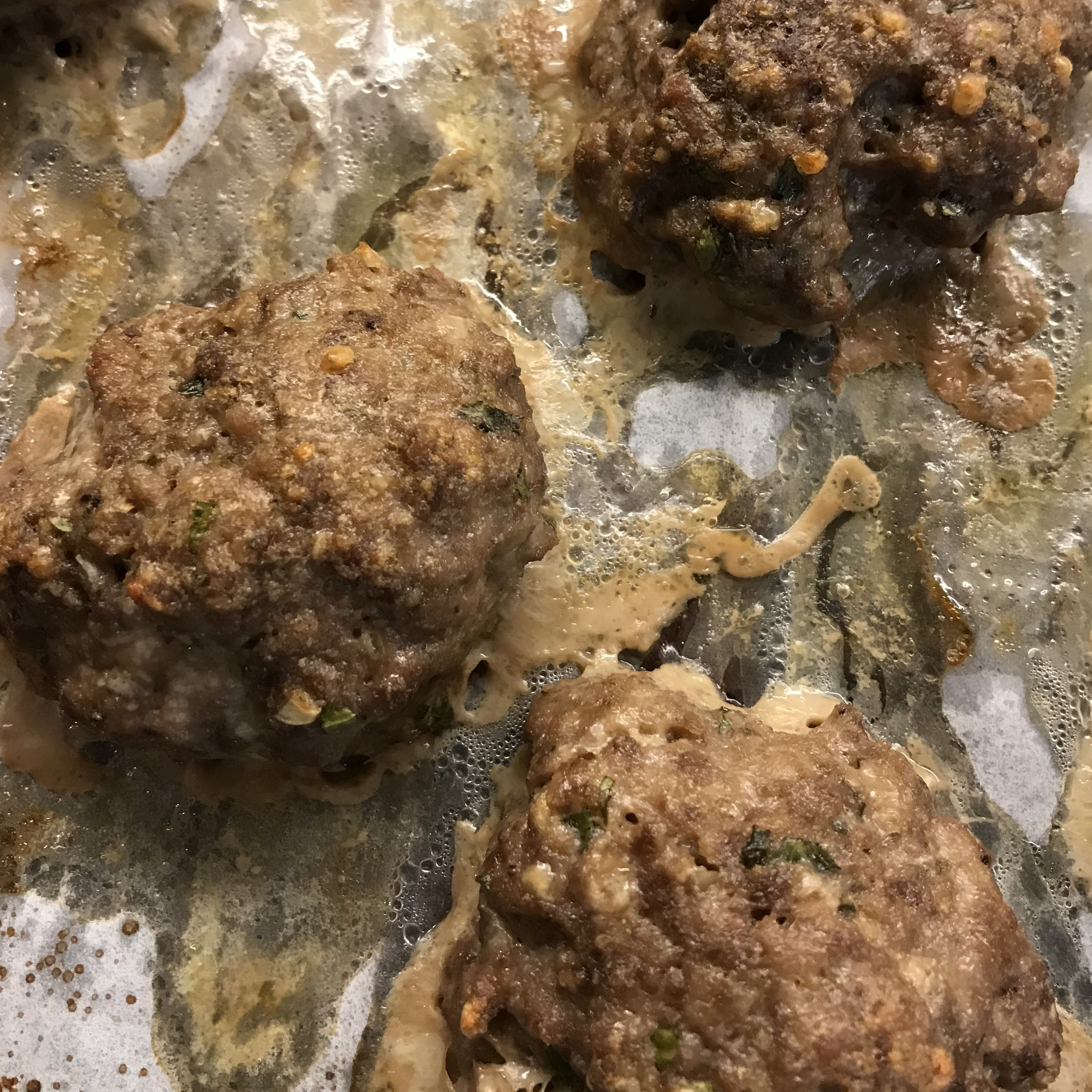 Roasted Italian Meatballs . Cooking for Jeffrey . Week 41