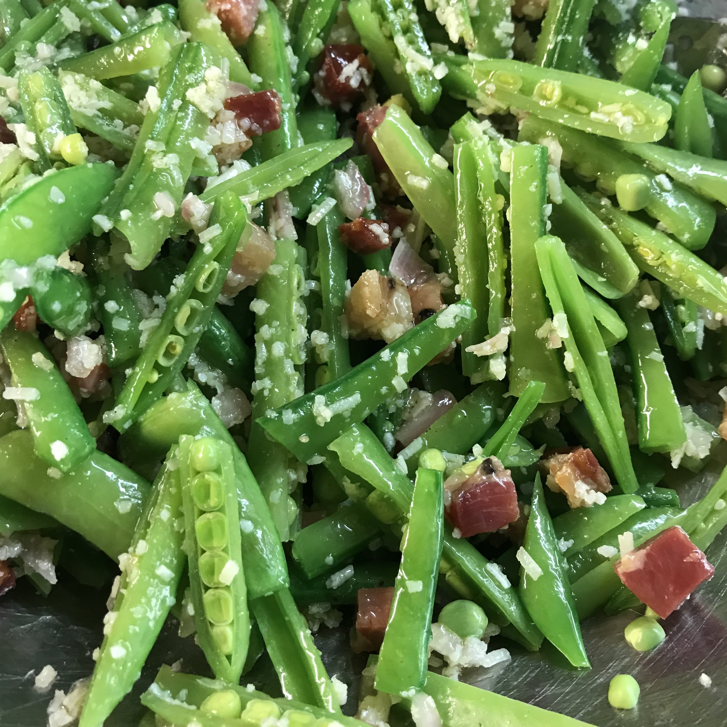 Snap Peas with Pancetta . How Easy Is That? . Week 42