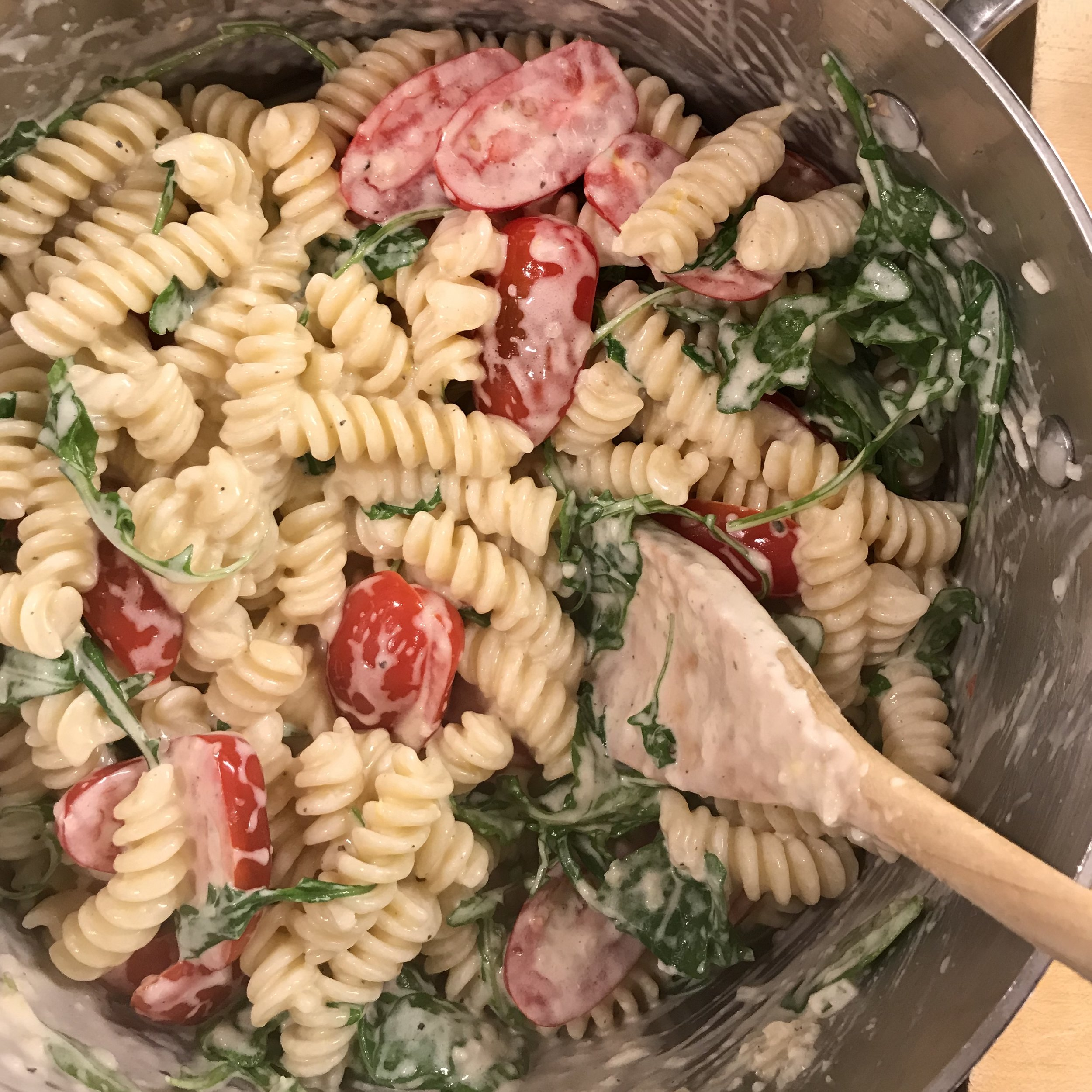 Lemon Fusilli with Arugula . At Home . Week 44