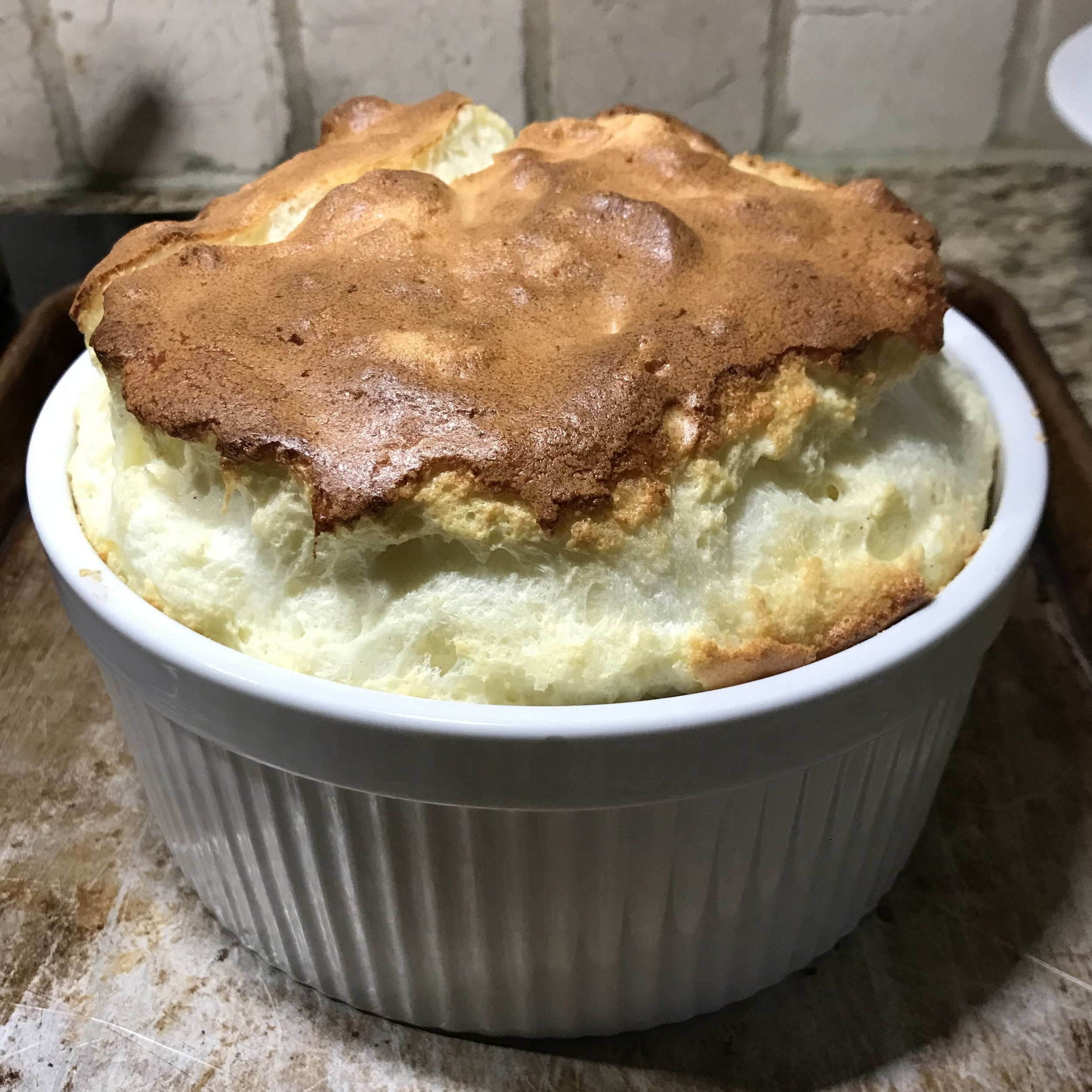 Blue Cheese Soufflé . Cooking in Paris . Week 45