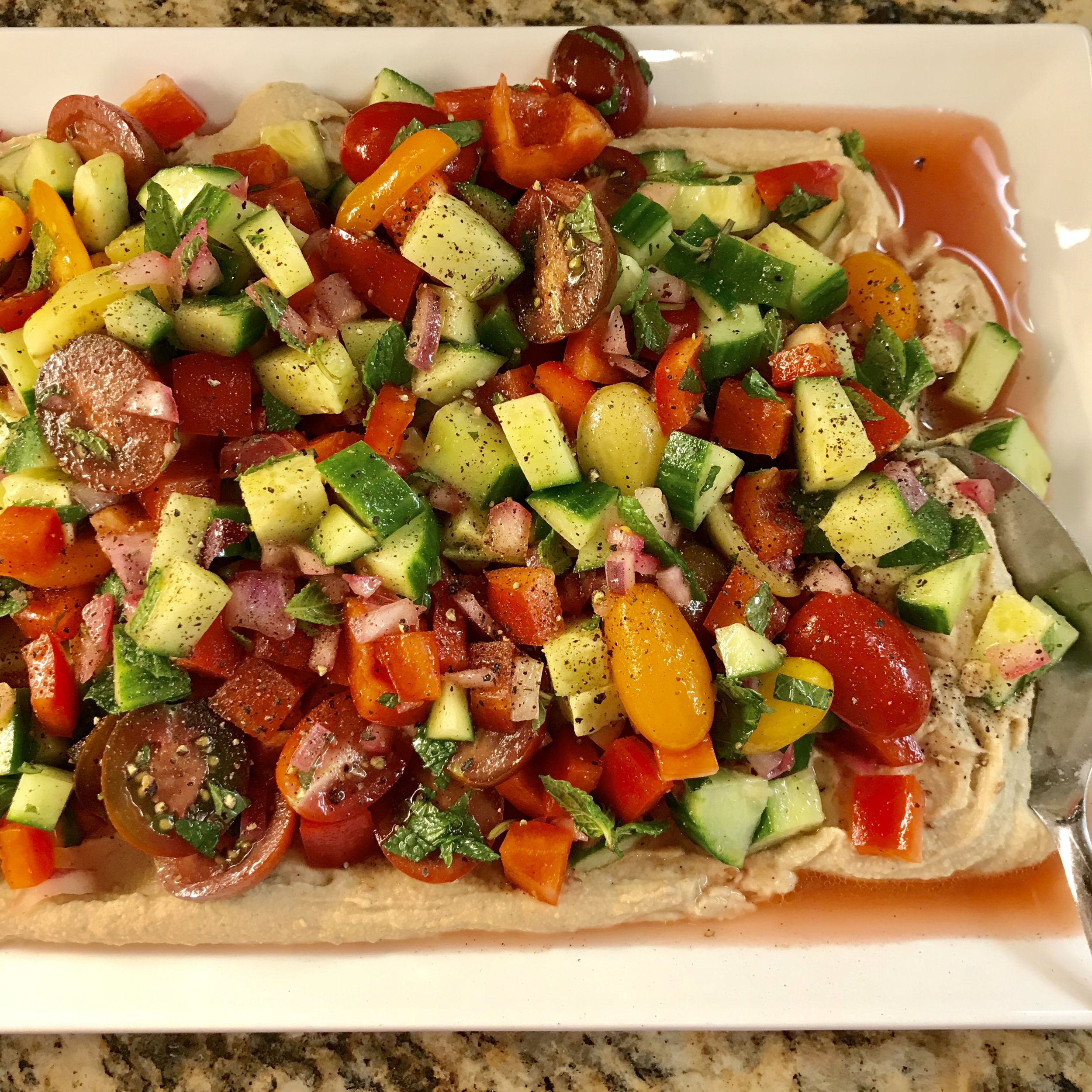 Israeli Vegetable Salad . Cook Like A Pro . Week 47