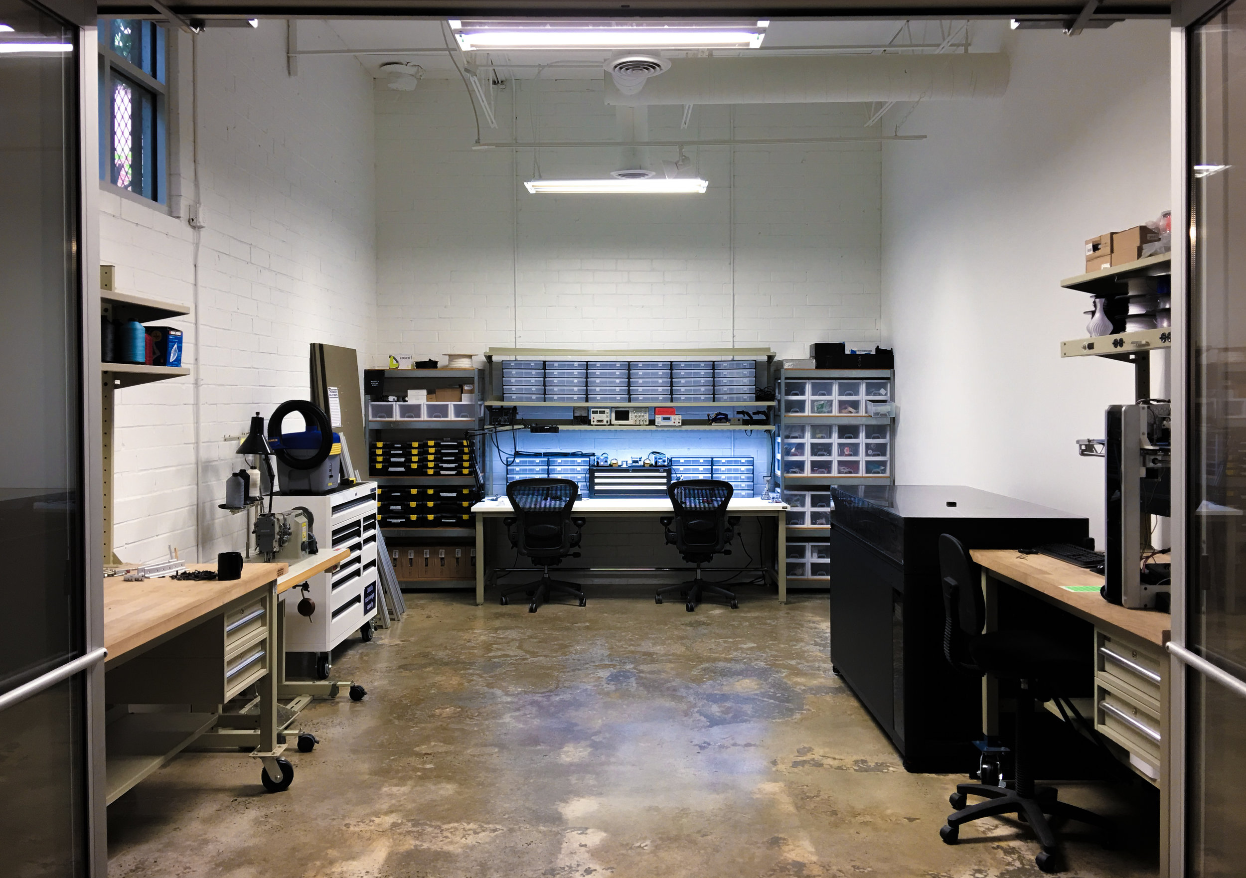 With our electronics lab, 3D printers, soldering stations, sewing machines, and vinyl cutters, it is very tempting to make everything in-house.