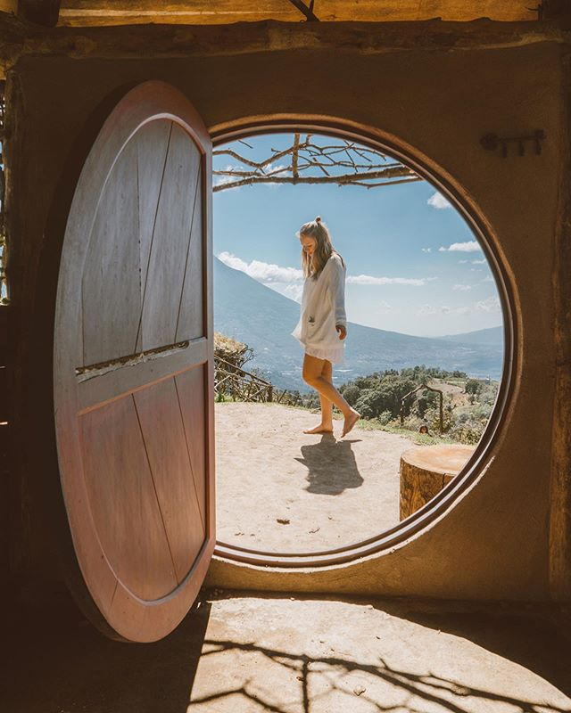 "The closest this 5'9"" girl has ever been to feeling like a hobbit 🤷🏼‍♀️ . It's hard to believe this magical little hobbit town is just a short drive outside of Antigua. It honestly felt like a whole other world 🌎 . #hobbitenango #perhapsyouneedalittleguatemala"