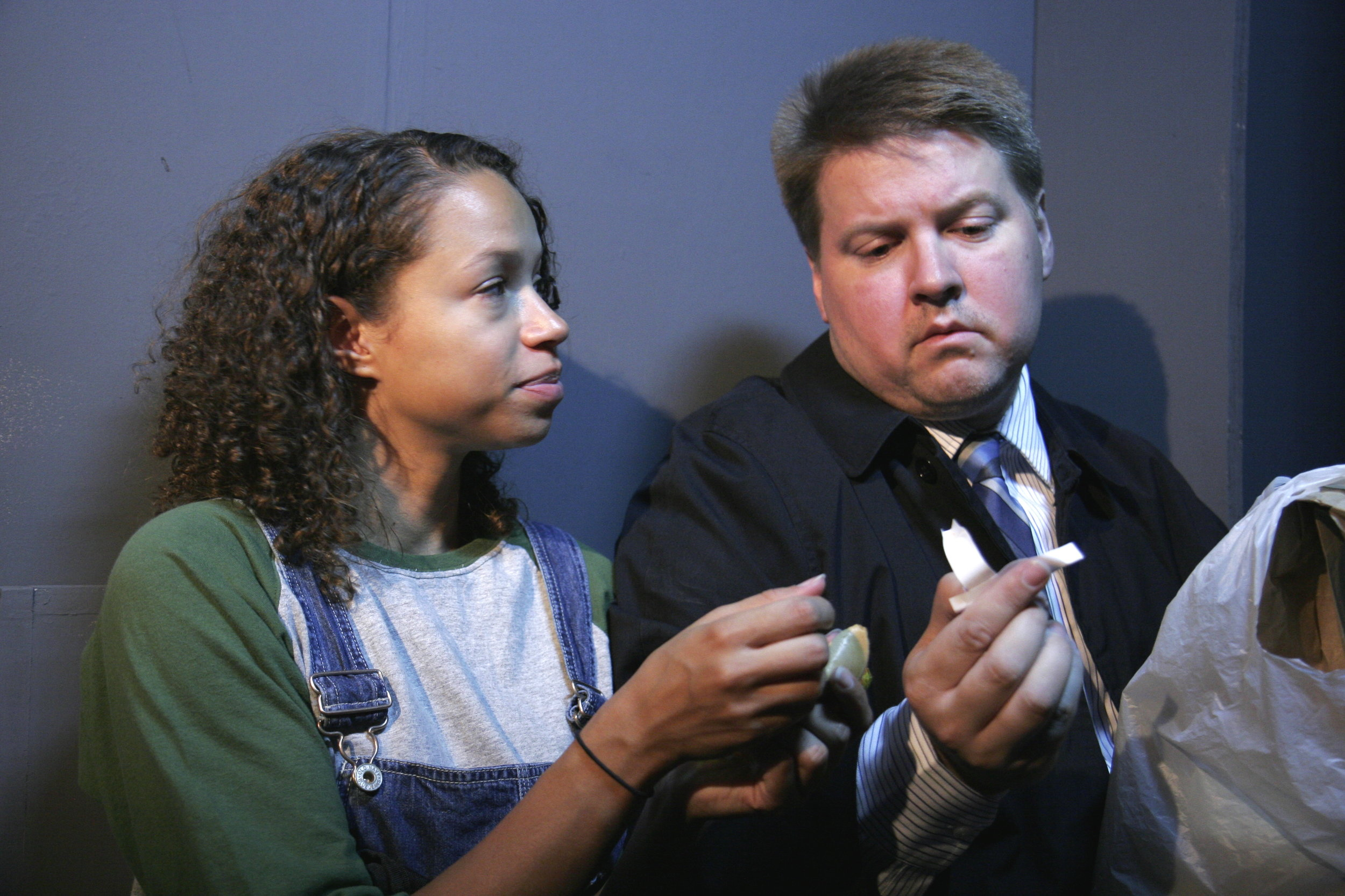 Victoria Caciopoli and Kevin Heckman at Stage Left Theatre  photo by Johnny Knight