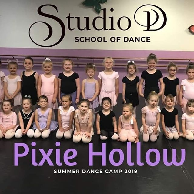 """Here's a quick moment from day one and two of """"Pixie Hollow"""" Camp. These dancers learned so much and are worked hard on their dances for our mini show on Friday!"""