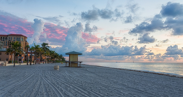 Hollywood Beach and Boardwalk Before Sunrise - Photo courtesy of Matthew Paulsen