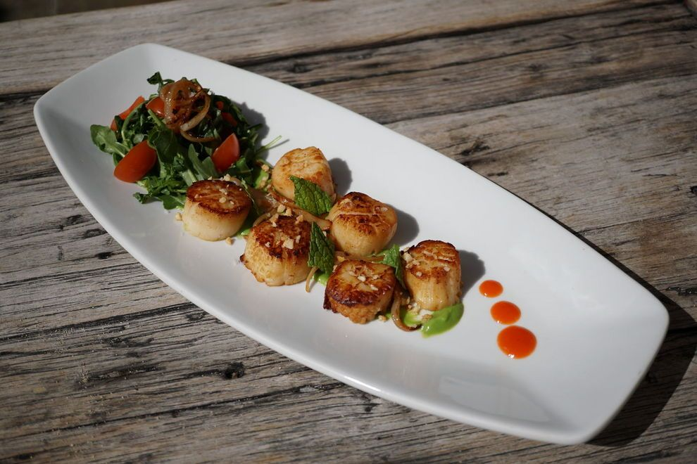 Vegan scallops taste like the real thing —    Photo courtesy of The Reef Bar & Market Grill