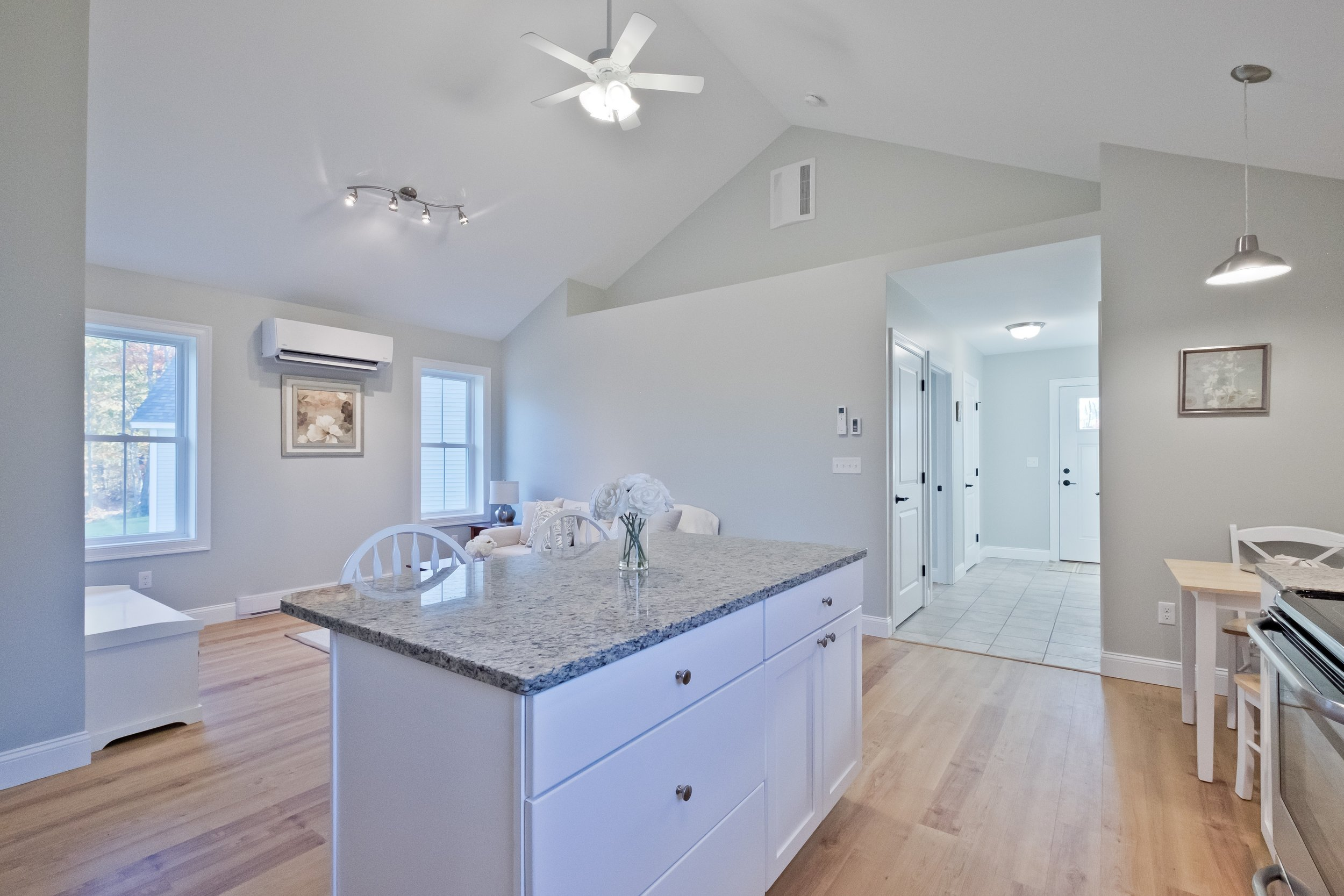 The Cottages at Willett Brook in Bridgton, built by Maine Eco Homes, include an energy-efficient design and plenty of natural light. Photo: Maine Virtual Home Tours, courtesy of Main Eco Homes