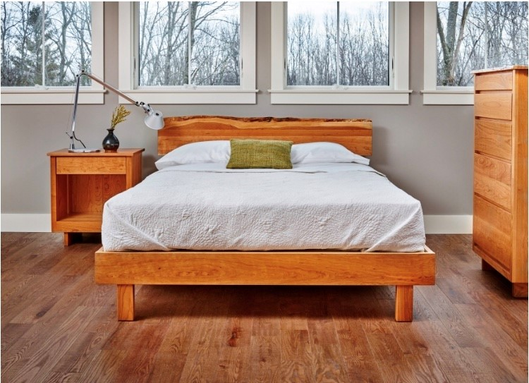 Chilton's Acadia Live Edge bedroom furniture, shown here in cherry. The cherry is sourced in Maine.
