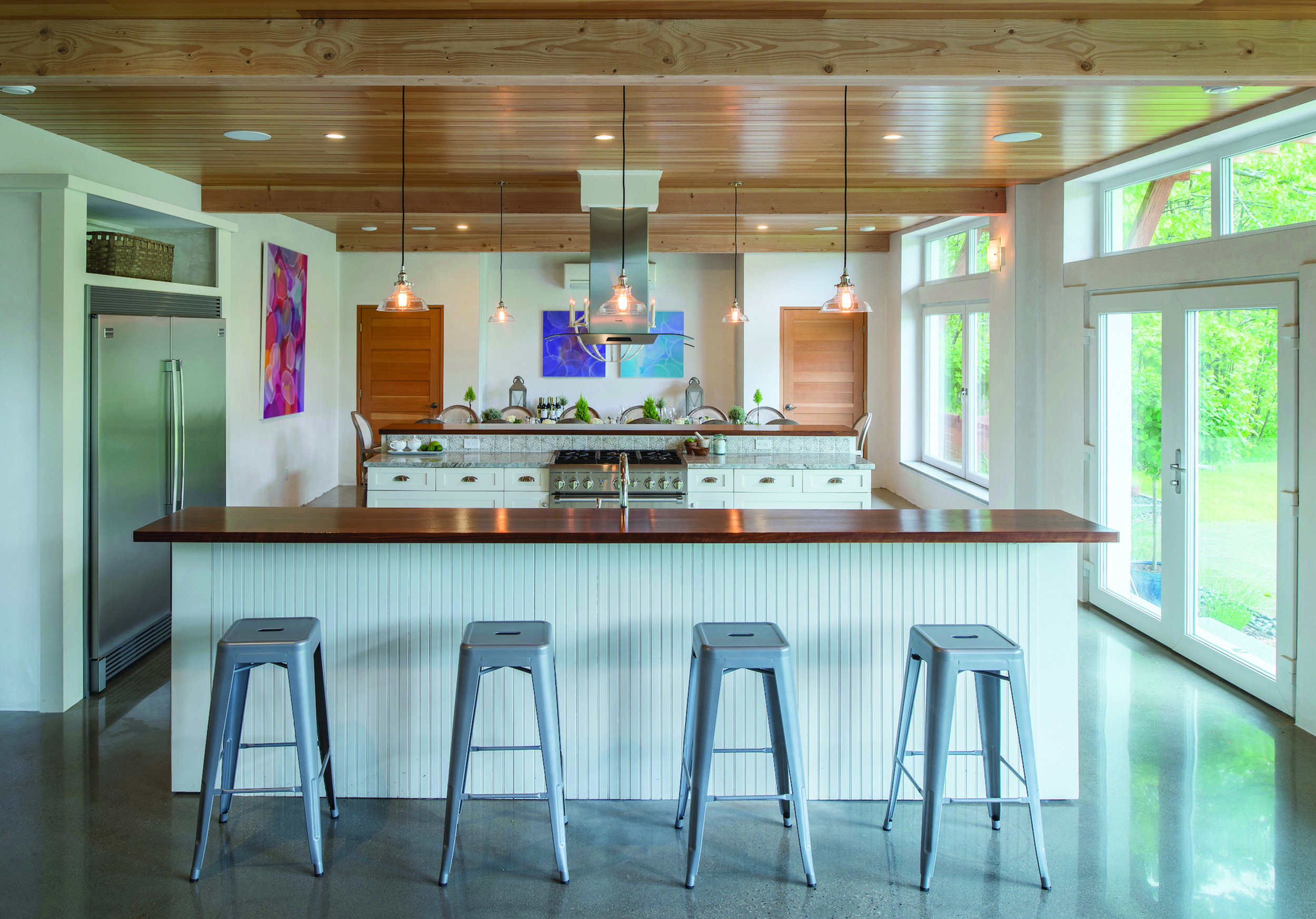 Chris Genest's Kennebunkport home, the first completed with Comfort Blocks (TM), showcases the flexibility of design options that the product offers. Photo: Carol Liscovitz Photography