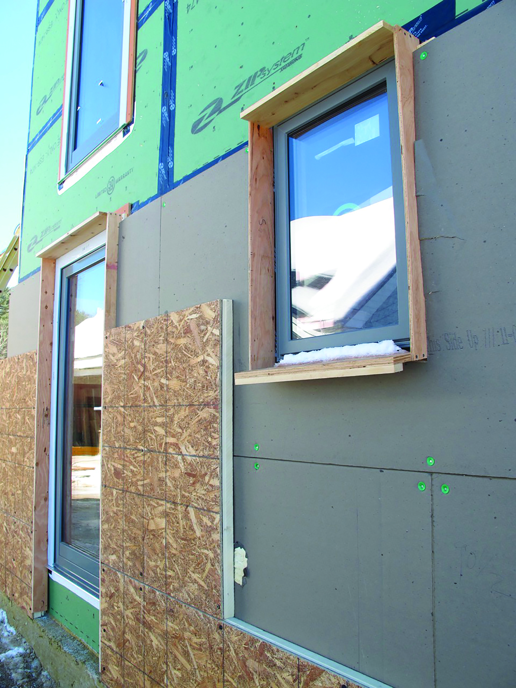 Thickened walls and inset windows aim to reduce heating requirements by mitigating thermal bridging and buffering the home against the elements. Photo: BrightBuilt Homes.