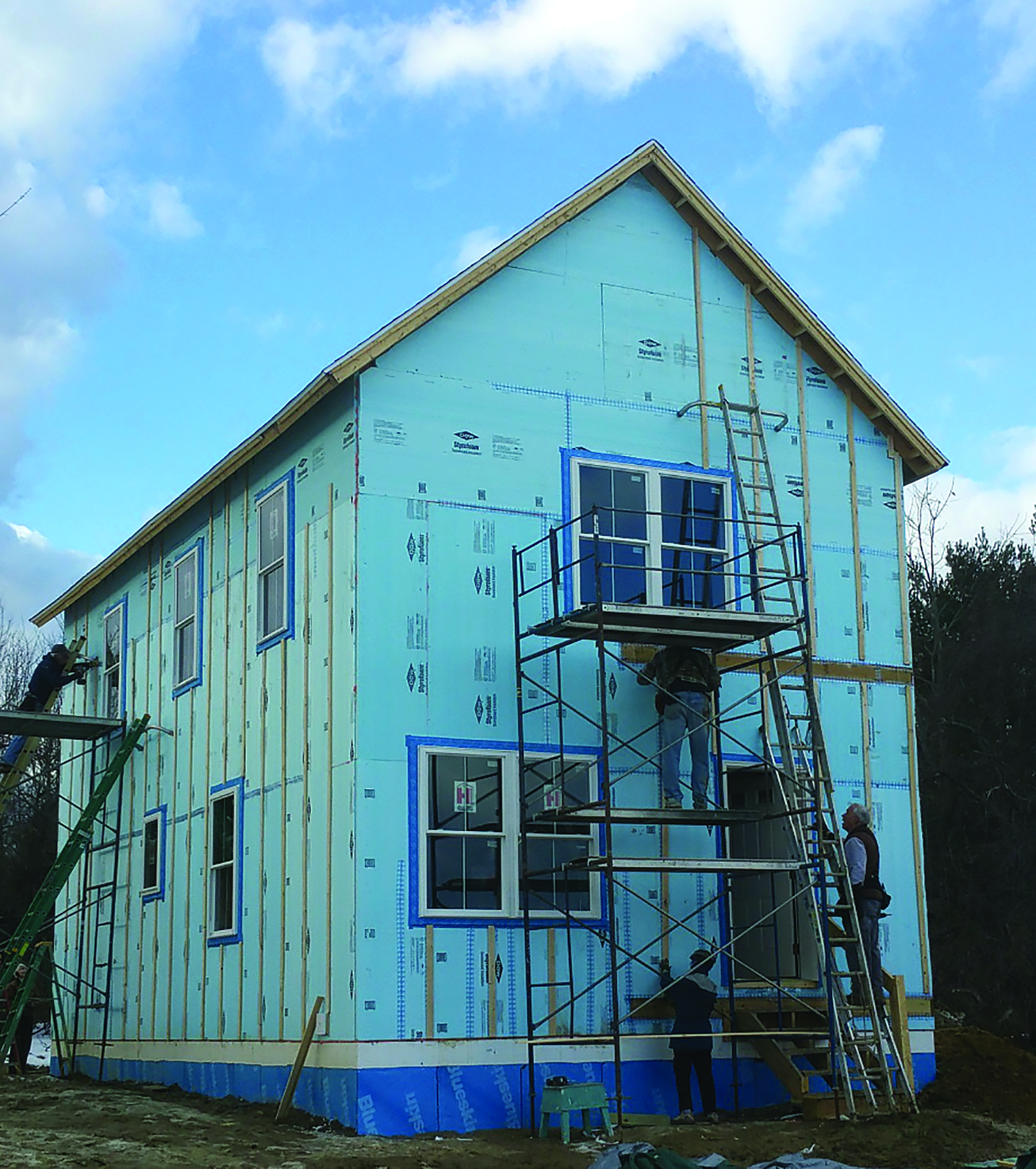 A Habitat for Humanity development in Scarborough uses new construction methods that meet EnergyStar standards, ensuring that the homes are 75% more efficient than an average house. Photo: Tim King