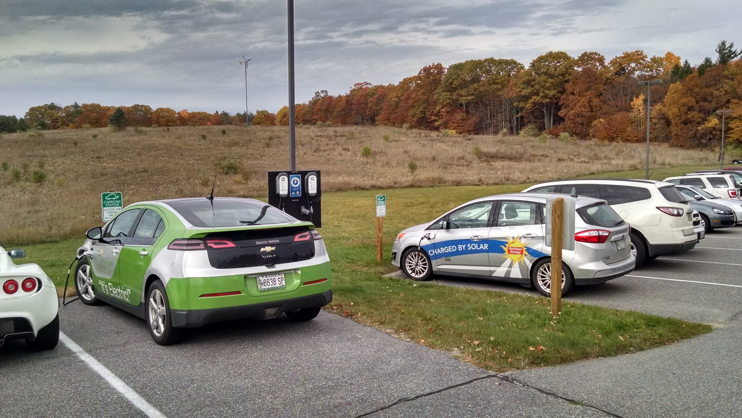 Maple Hill Farm Inn and Conference Center in Hallowell offers four electric vehicle chargers, including two Level 2 and two Tesla. They are free to overnight guests and those attending an event at the inn. Half of the center's electricity comes from on-site wind and solar PV system.