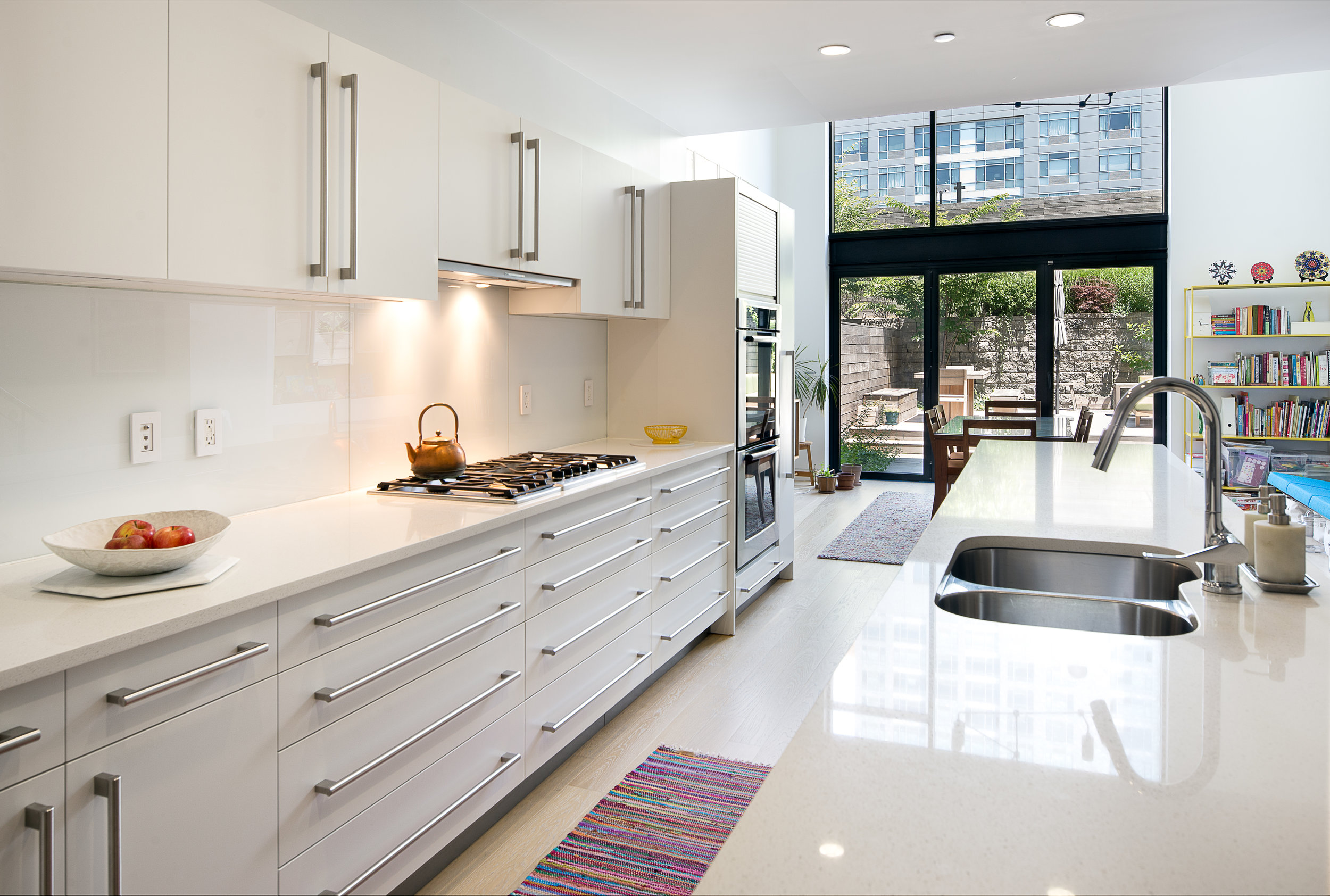 Pure Kitchen offers European-style custom cabinets that exclusively use water-borne coatings. This kitchen features soy-based adhesives in the plywood case construction. Photo courtesy of Pure Kitchen.