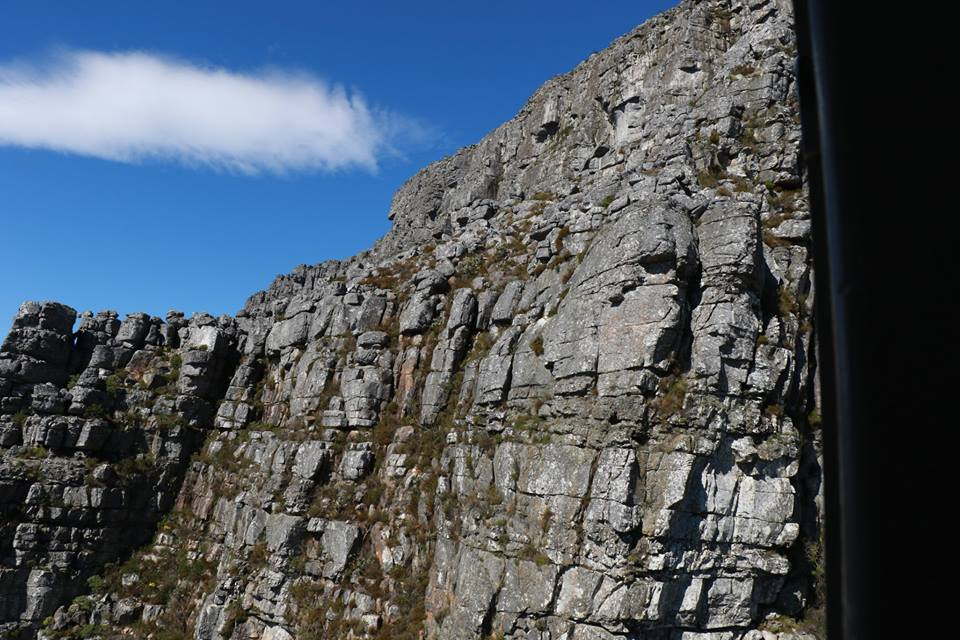 right up against the face of fortress….Table Mountain.