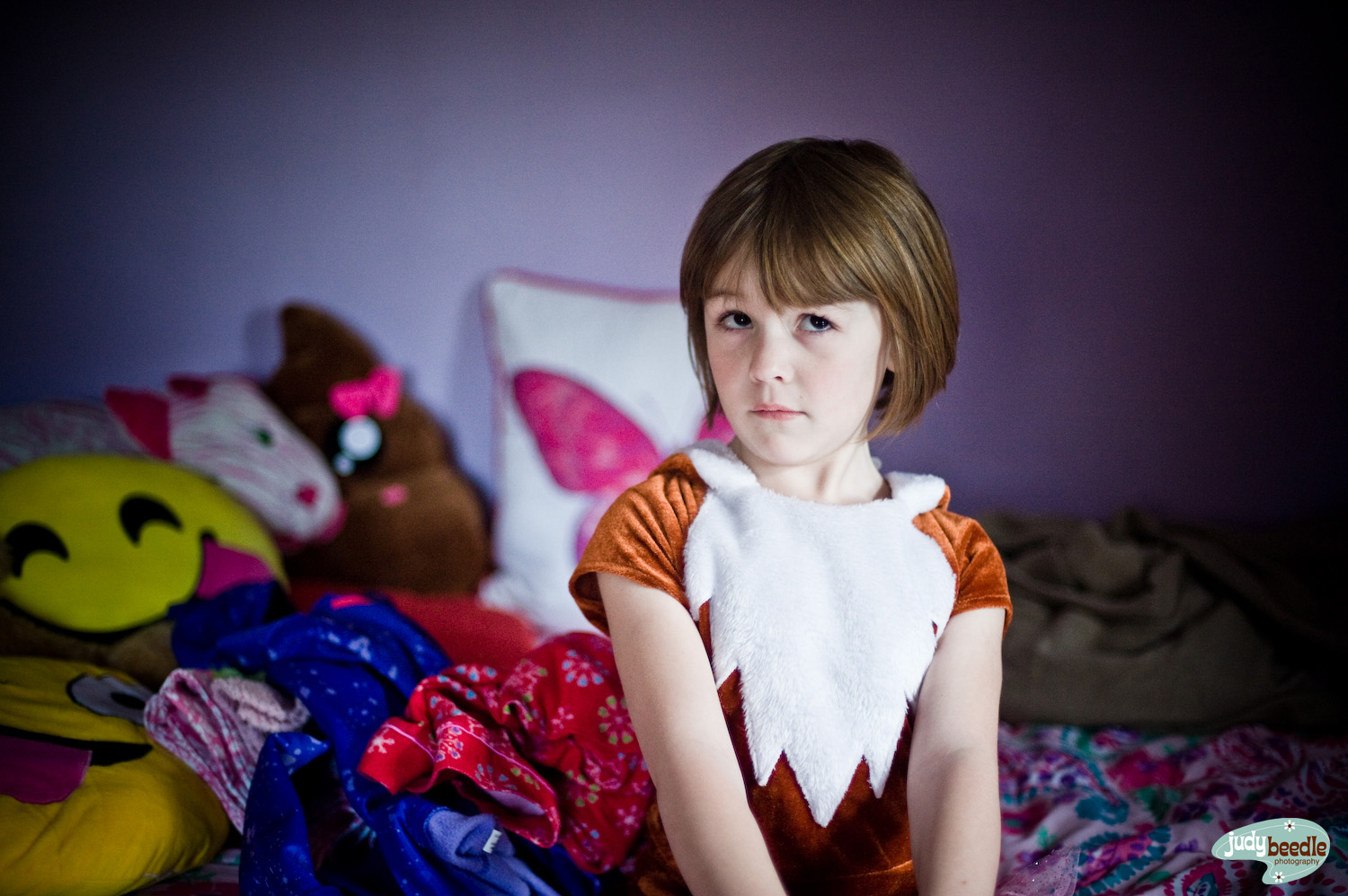 4/25 | She wanted me to come over to see what she was wearing to school the next day. It was this - a fox outfit. It has a tail.