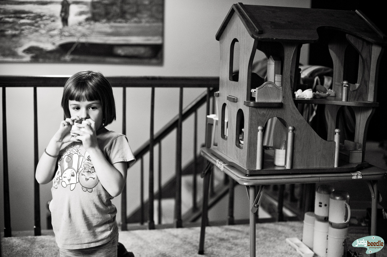 5/14. Someone got a dollhouse for her birthday…