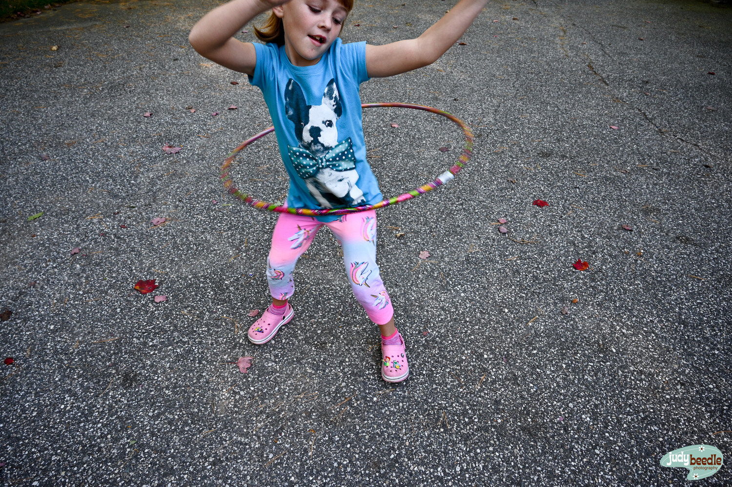 9/29. Hula hoop dance off with the niece.