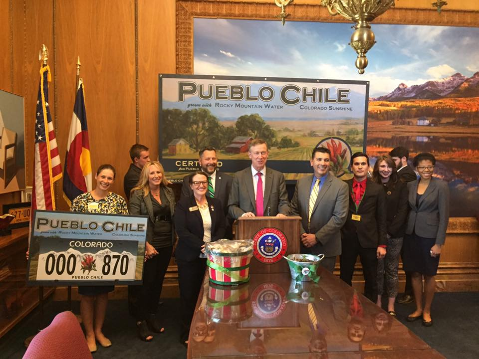 Pueblo Chile License Plate Bill Signing