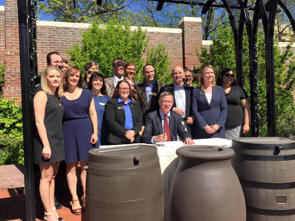 Rain Barrel Bill Signing