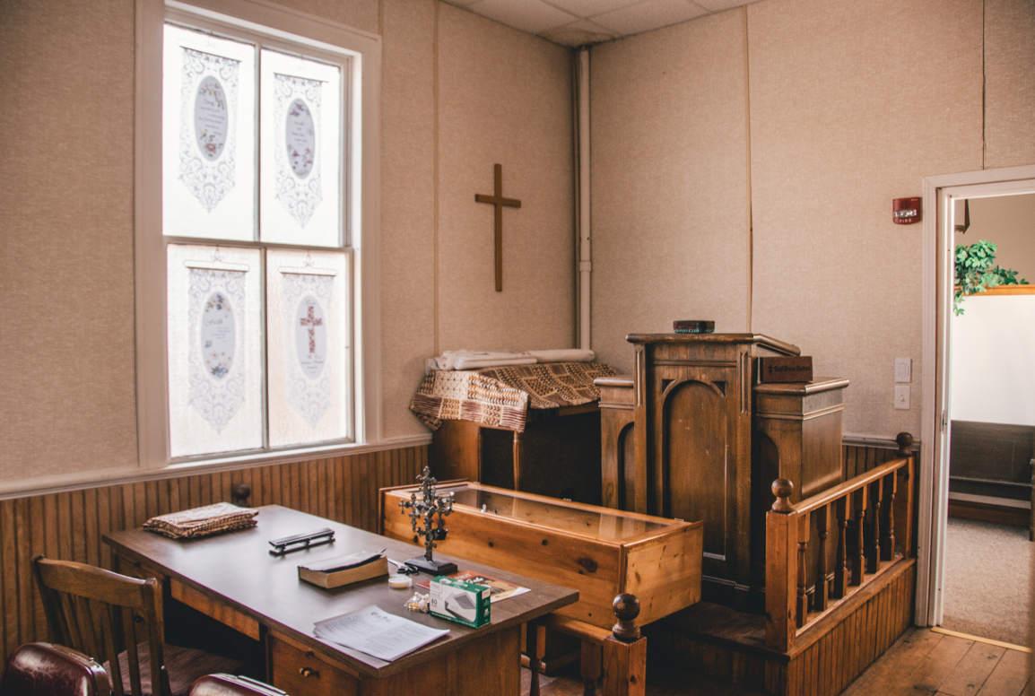 Inside Iowa City's Bethel AME Church, April 2018. — photo by Jav Ducker