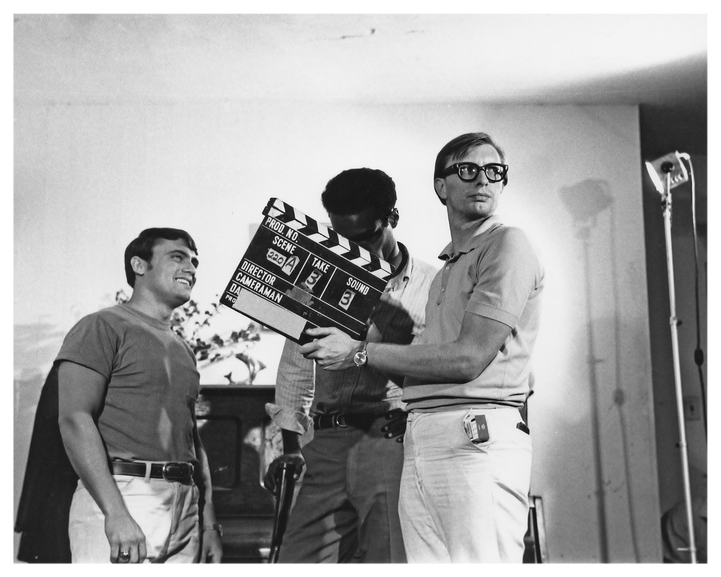 Russ Streiner with clapboard.jpg
