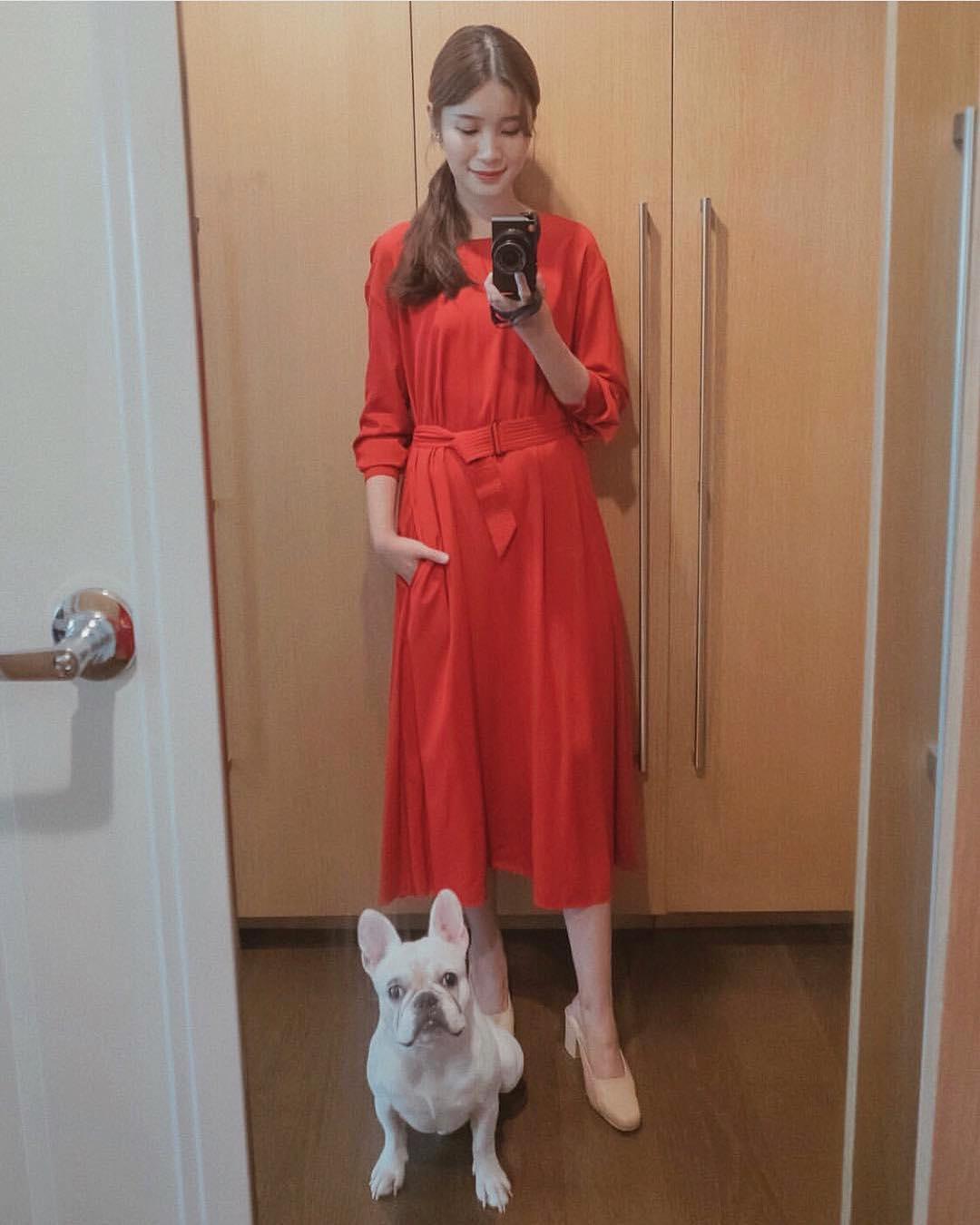 @tgosingtian wears The Eloise in beige