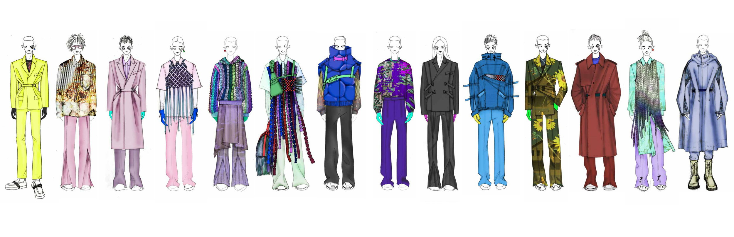 Collection proposal for Louis Vuitton Men   by Jaylin Kim