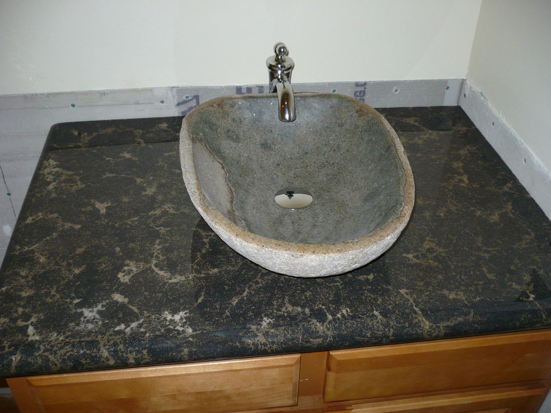Countertop and bowl