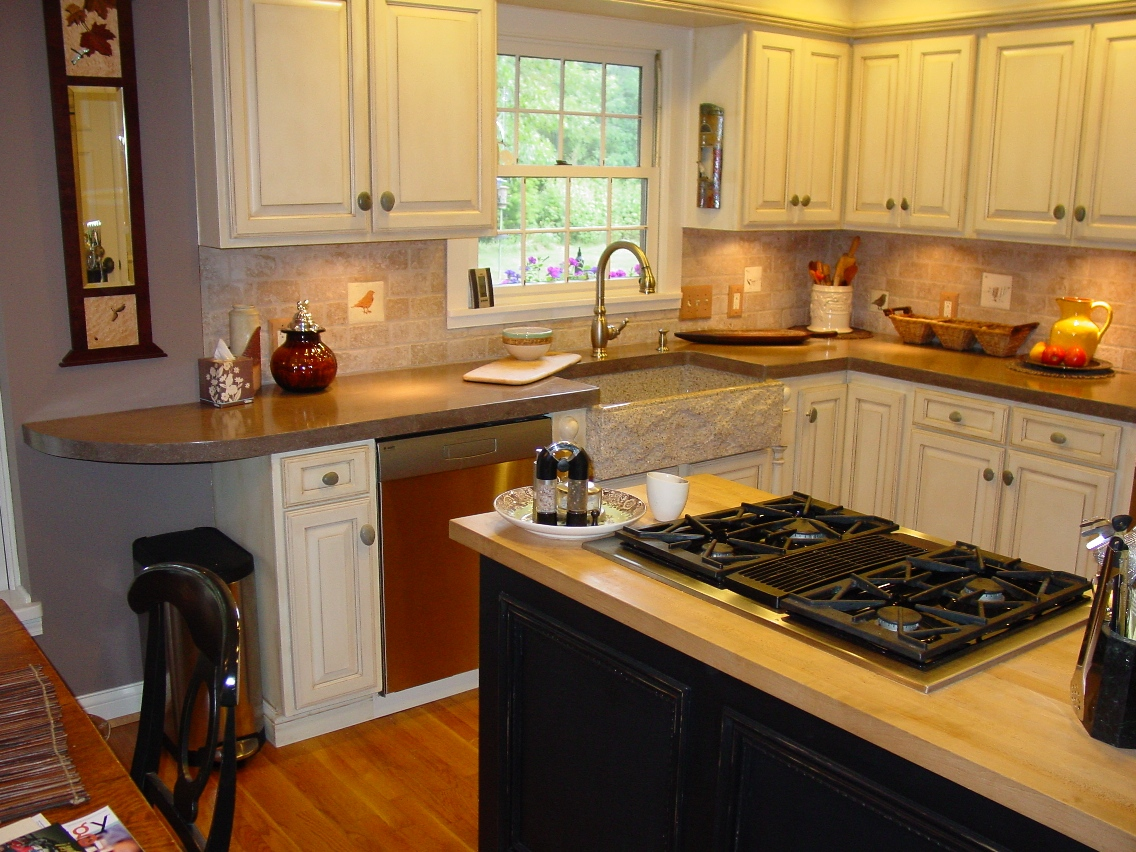 Pre-cast Countertop with Buddy Rhodes Chocolate brown color, low gloss, natural sealer