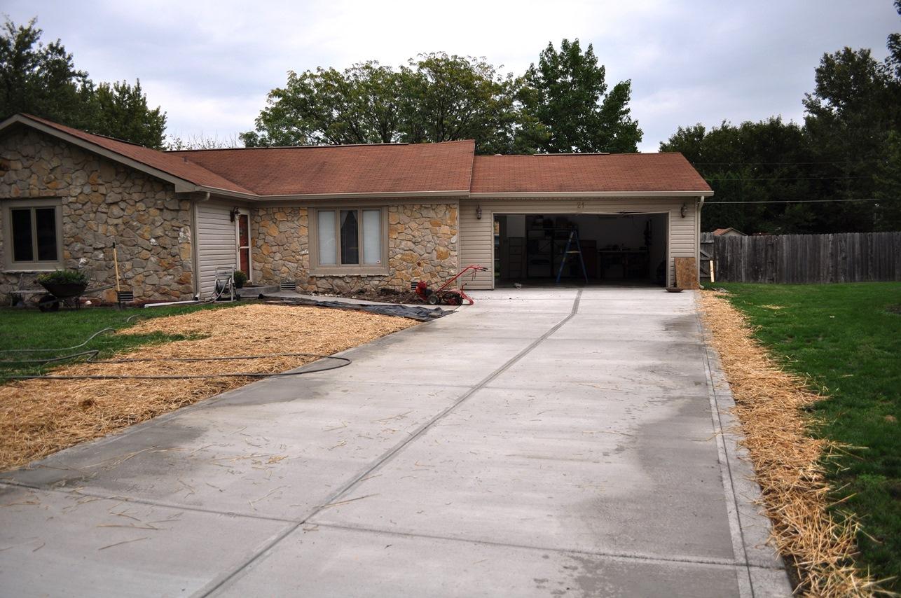 Westfield driveway, broom 5