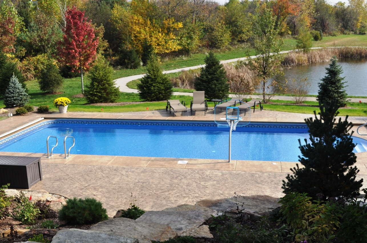 Texture Italian Slate Textured Pool deck with Desert Sand color and Autumn Brown Release