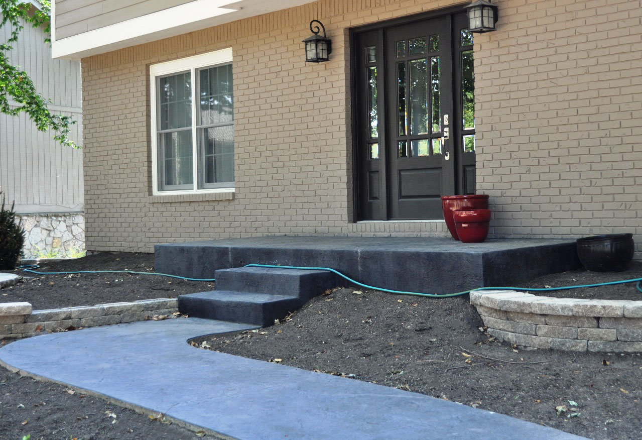 Entry, textured Old granite skin, Dove gray, Charcoal gray