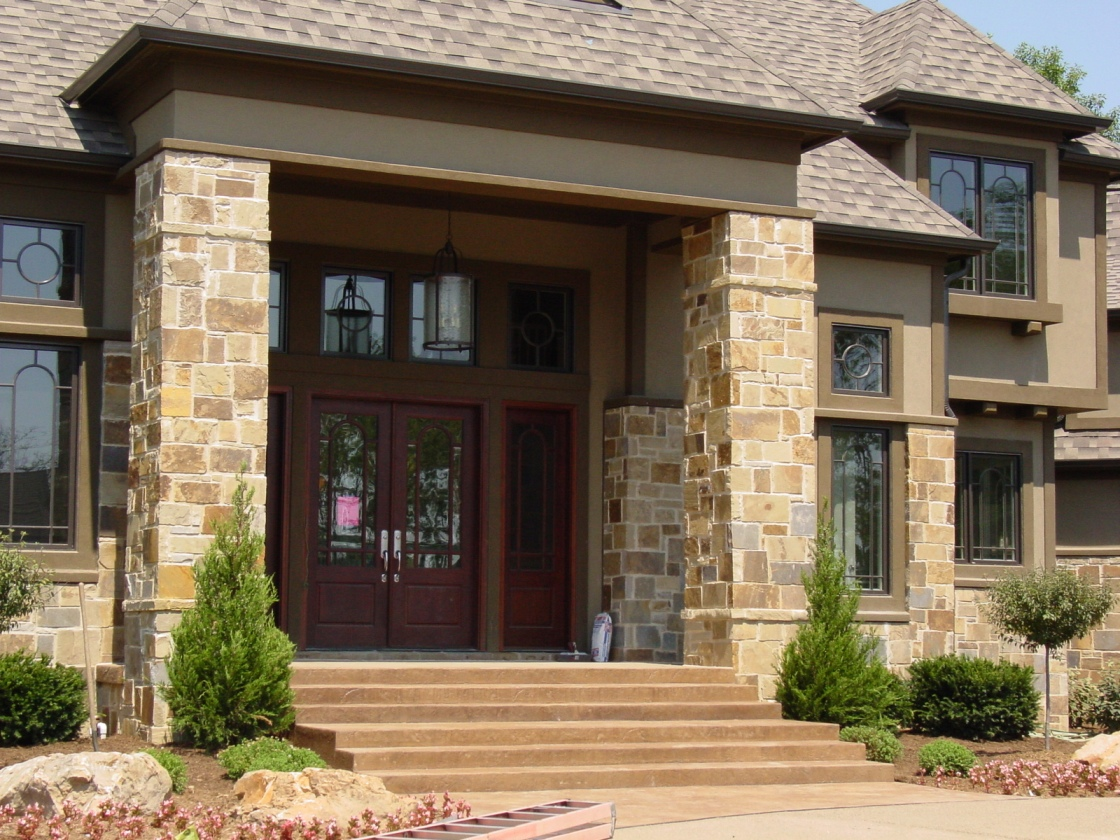Stamped Concrete Porch, steps and Entry
