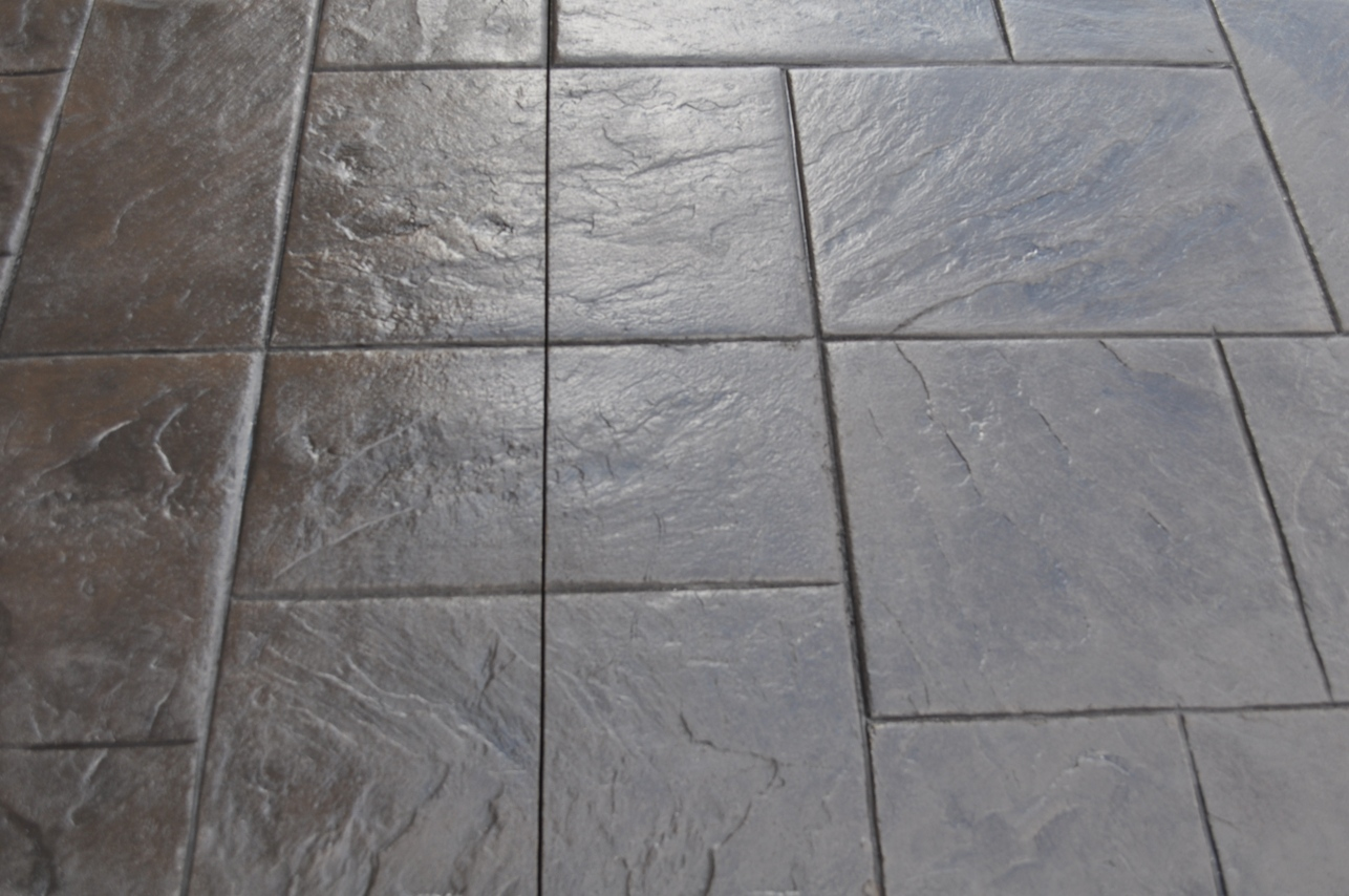 Large Ashlar Slate with border, Dark Walnut color and Charcoal Gray release 2