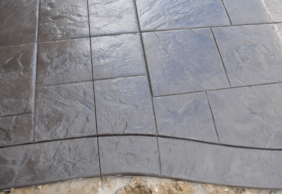 Large Ashlar Slate with border, Dark Walnut color and Charcoal Gray release