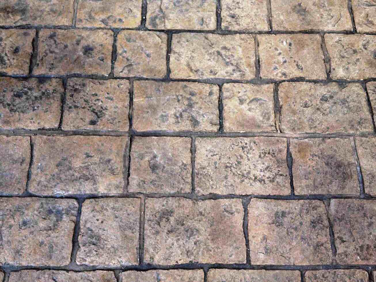 mayan cobblestone, sandstone, dark walnut
