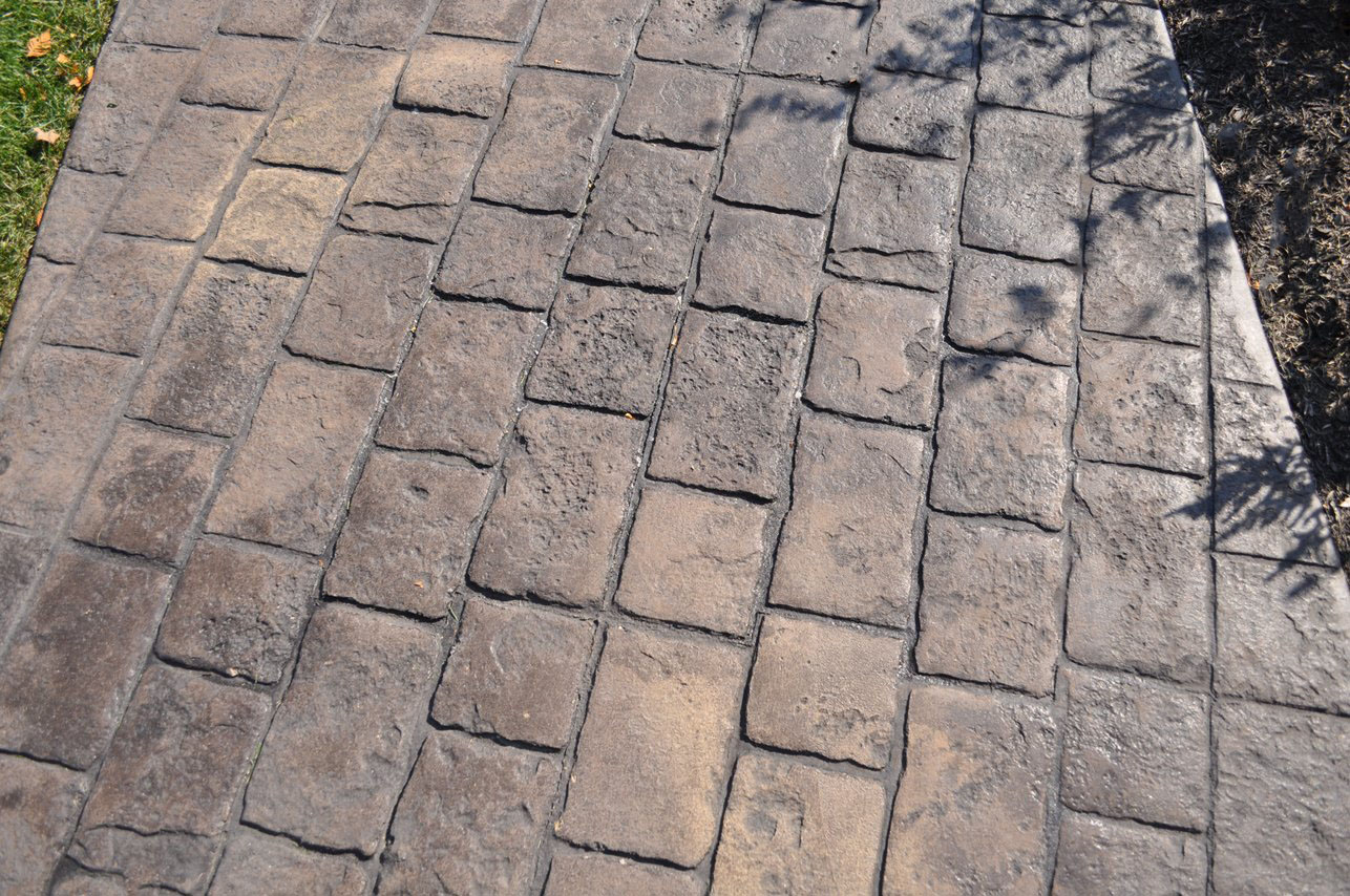 Mayan Cobblestone pattern, Dark Walnut, Splash of Mesa Buff, Charcoal Gray