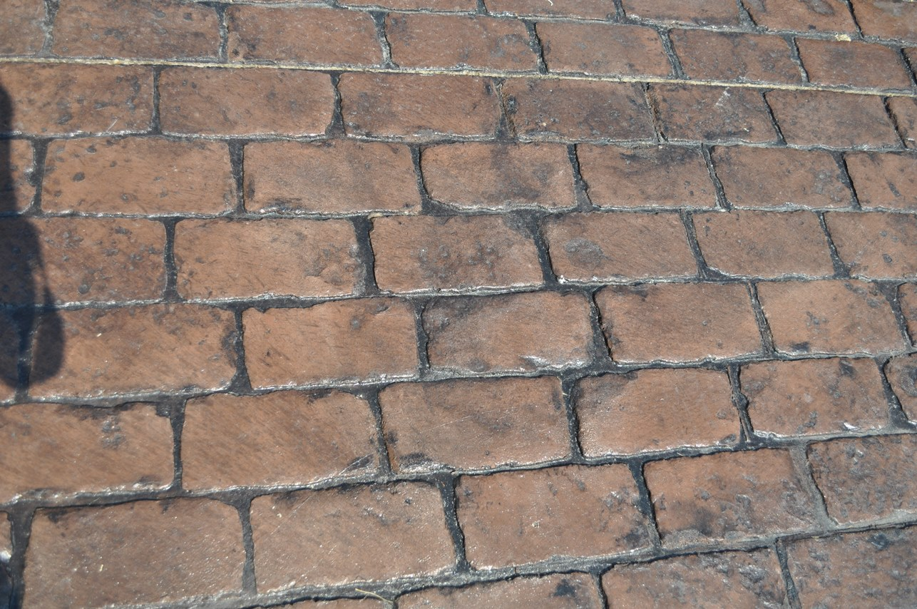 Pennsylvania Cobblestone Stamped pattern, Autumn Brown, Charcoal Gray