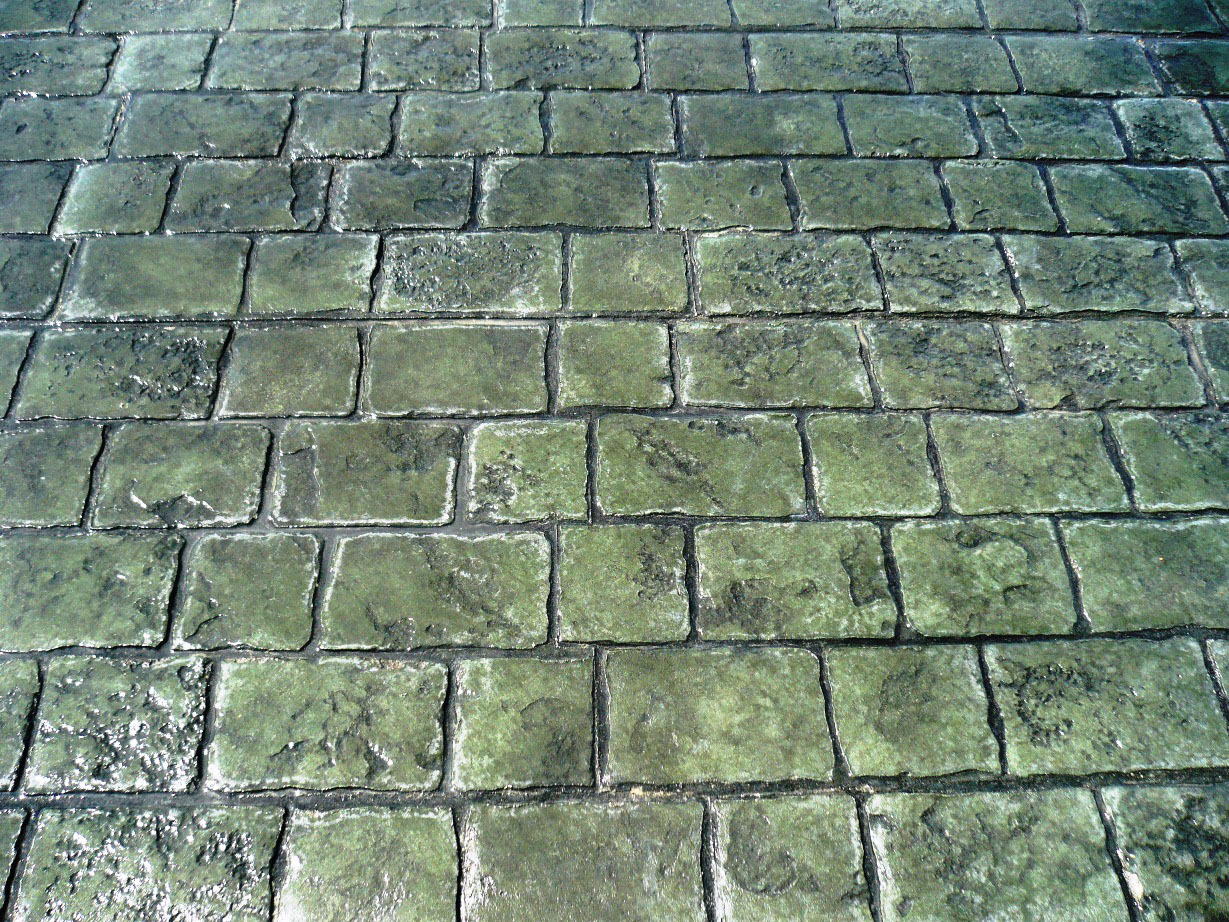 Mayan Cobblestone, Slate Green, Charcoal Grey