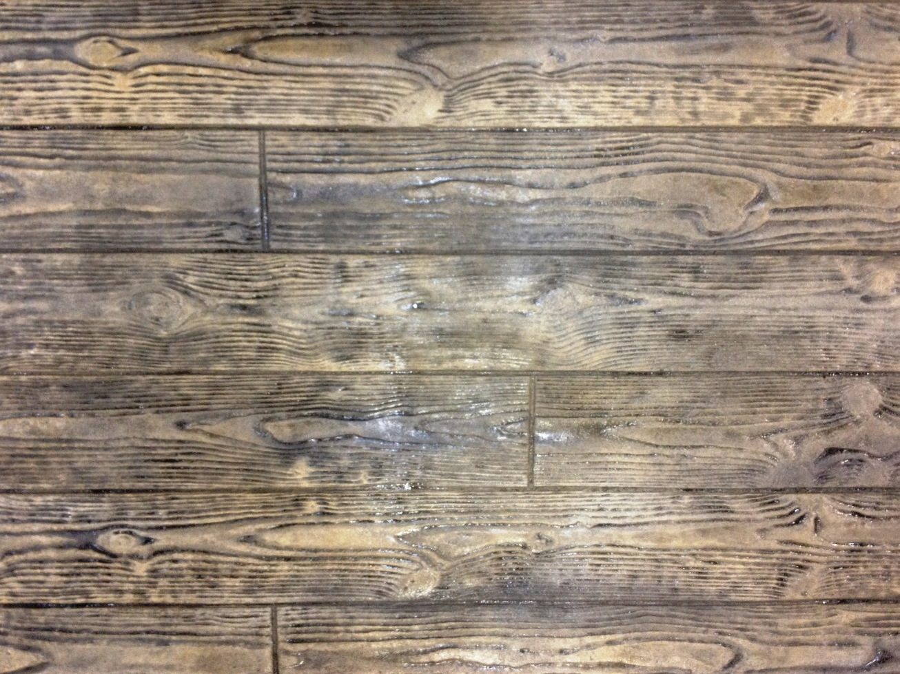 Stamped 6 inch Wood plank, Mesa buff, splash of mocha and autumn brown, Dark walnut 2