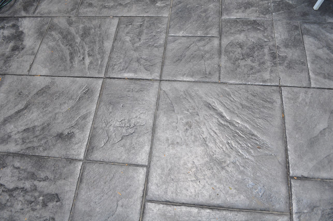 Stamped, Large ashlar slate, sable, heavy charcoal gray 1