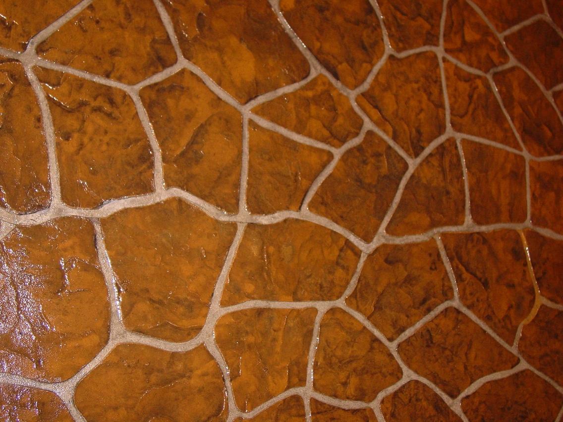 Flagstone Stencil, sandstone, dark walnut release