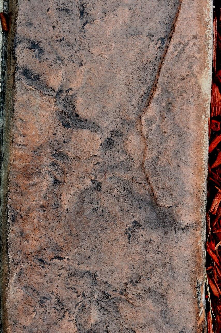 Roman slate texture, venetian pink base, liquid charcoal release 3