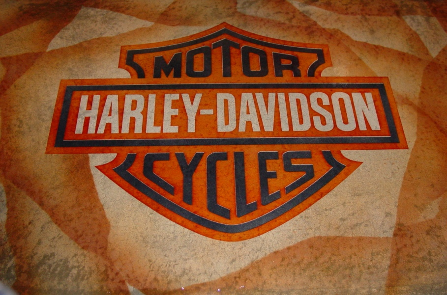 Acid Stain Harley Davidson Logo