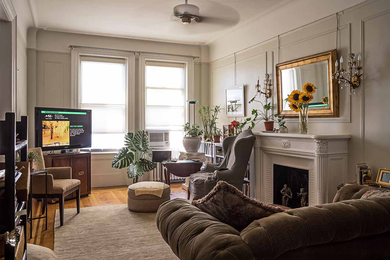 Shabby-Chic UWS Living Area at The Grinnel