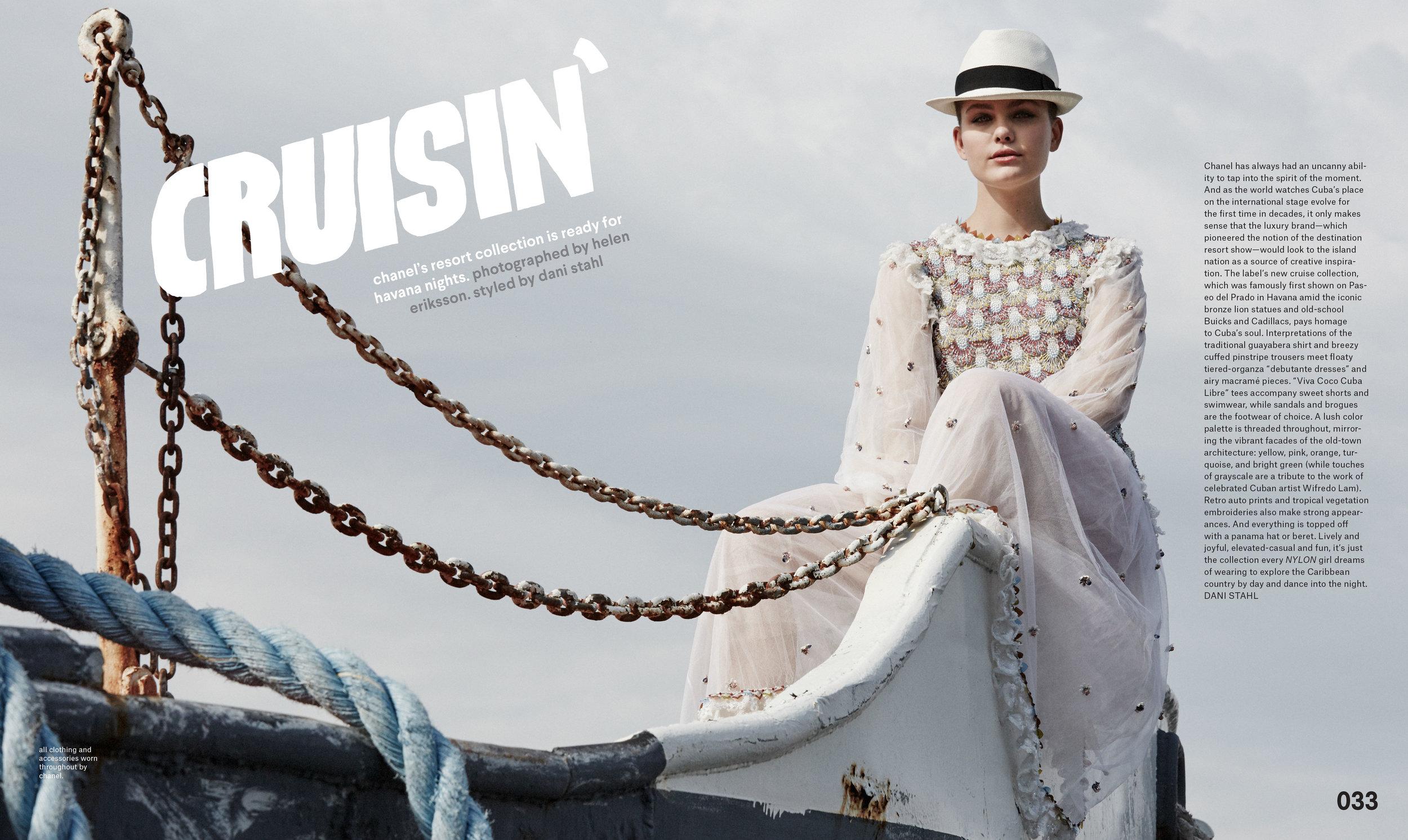 Nylon Magazine Chanel Shoot aboard the Mary A. Whalen