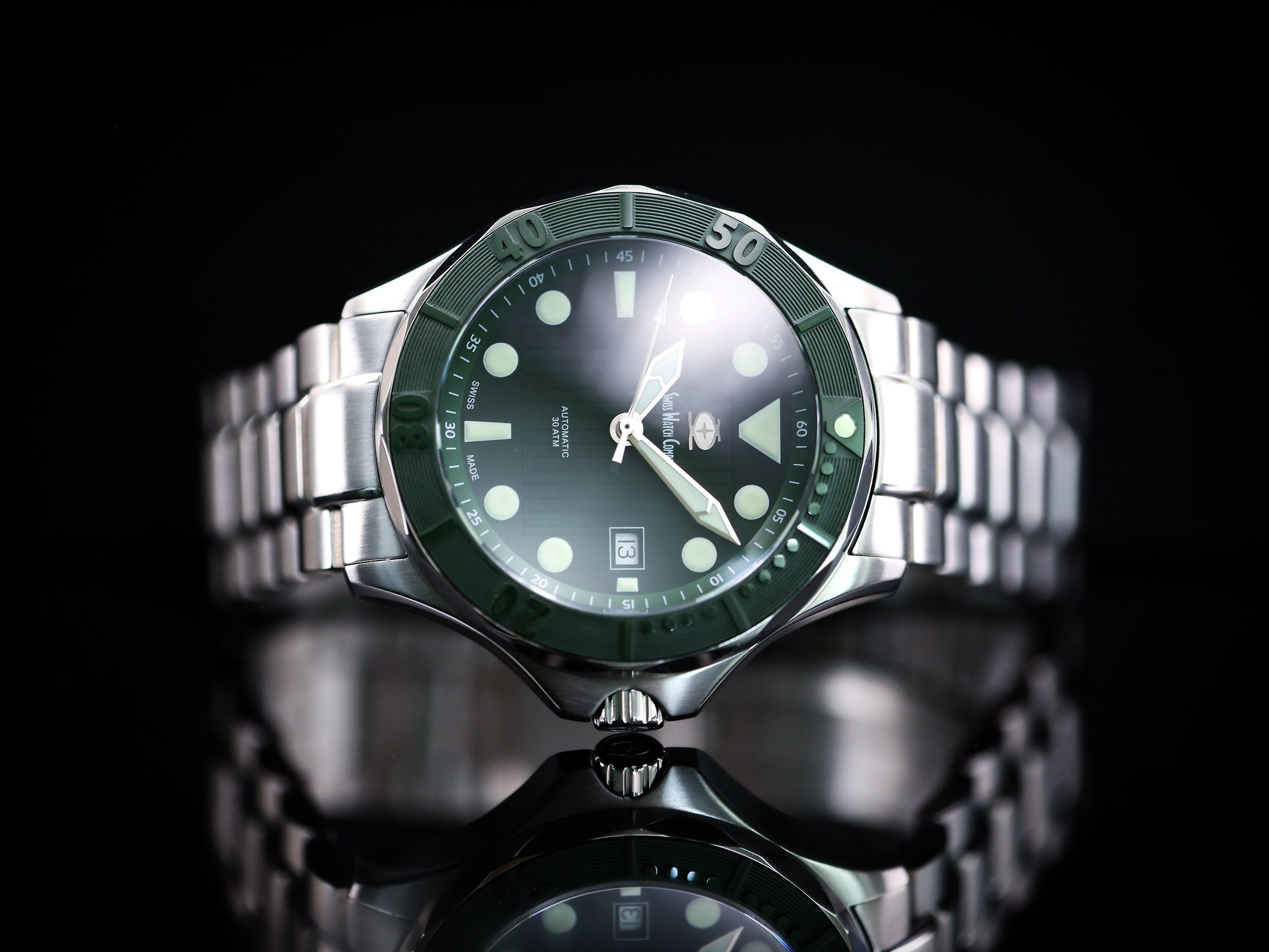 The Diver Green from Swiss Watch Company.